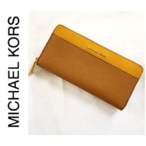 NWT authentic MK leather continental wallet